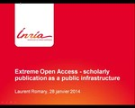Extreme Open Access – scholarly publication as a public infrastructure