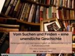 Vom Suchen und Finden – eine unendliche Geschichte. Heterogenität und Mehrsprachigkeit als Herausforderungen für Kulturerbeportale