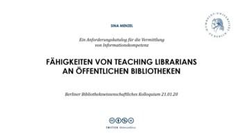 Fähigkeiten von Teaching Librarians an öffentlichen Bibliotheken