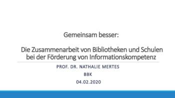 Gemeinsam besser: Die Zusammenarbeit von Bibliotheken und Schulen bei der Förderung von Informationskompetenz