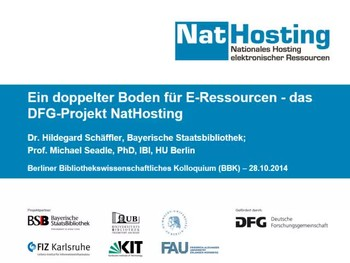 Ein doppelter Boden für E-Ressourcen – das DFG-Projekt NatHosting