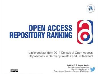 Open Access Repository Ranking (OARR)