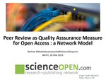 Peer Review als Messlatte für Open Access: Ein Netzwerk-Modell