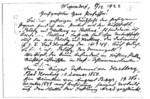 Baron von Arnim levelező lapja Graggerhez