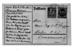 Dr. Lujo Brentano levelező lapja Graggerhez