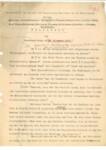 Jegyzőkönyv a Társaság elnökségi  üléséről (Ausschusssitzung)