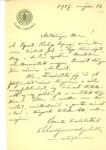 Mattyasovszky Miklós levele Graggerhez