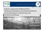 Gelöster organischer Kohlenstoff an Niedermoorstandorten Nordostdeutschlands - Zusammenhang zu Landnutzung und Standortausstattung