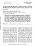 Faul et al. 2016_Peatland substrates in MCP SA