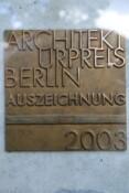 Schild Architekturpreis 2003