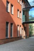 Eingang Geographisches Institut, Seitenansicht