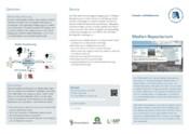 Flyer zur Vorstellung des CMS-Dienstes Medien-Repositorium