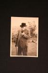 Elderly Carl Hoffmann with walking stick