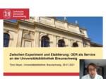 Zwischen Experiment und Etablierung: OER als Service an der Universitätsbibliothek Braunschweig