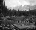 Karer See, Ansicht des Latemar