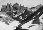 Seisser-Alpe gegen die Rosszähne (Südöstliches Tirol)