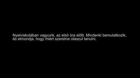 Bemutatkozás az olaszórán (felirattal / with subtitles)