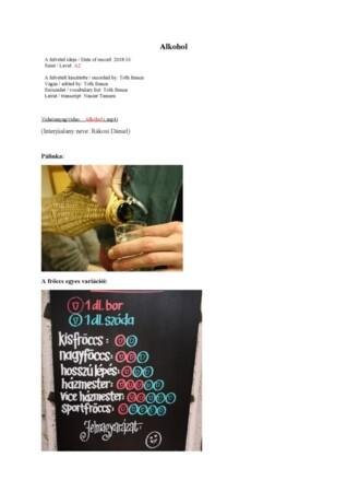 Alkohol szólista + leirat