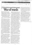 1989 - War of words – Dambudzo Marechera reviews Zimbabwean literature