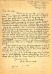 Letter from Arthur Ravenscroft