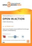 Poster zur Ausstellung Open in Action