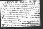 A Sketch of Logical Critic
