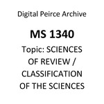 [An Outline of the Classification of the Sciences]