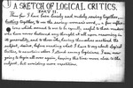 A Sketch of Logical Critic