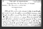The Art of Reasoning Regarded from the Point of View of A. D. 1913. Book I. The Foundations of the Art. Introduction.