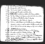 List of Proposed Memoirs on Minute Logic.