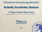 17. Open Content Open Access