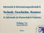 10. Informatik als Wissenschaft und Profession