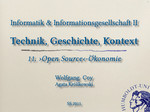 16. Open Source Oekonomie