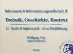 11. Recht und Informatik