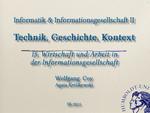 15. Wirtschaft und Arbeit in der Informationsgesellschaft