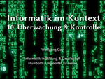 10. Überwachung und Kontrolle