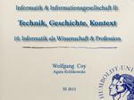 11. Informatik als Wissenschaft & Profession