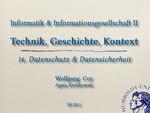 14. Datenschutz und Datensicherheit