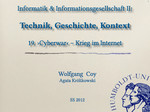 20. Informatik & Militär – Cyberwar
